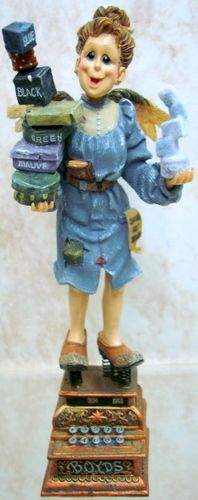 BOYDS BEARS Ms Pleasant FOLKSTONE Resin ANGEL 2E 28250