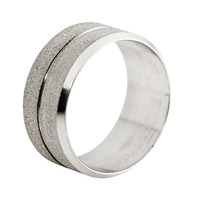 Mens Stainless Steel Rings w/ Sandblast Finish in Size 9, 10, 11, or
